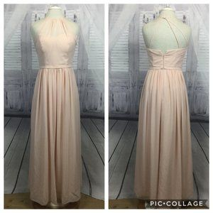 Bill Levkoff Formal Dress Blush Pink Halter 10